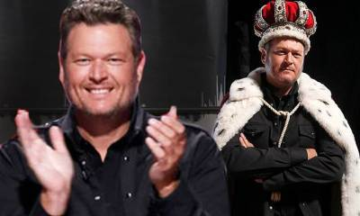 The Voice: Blake Shelton declares himself 'king' of show wearing royal cape and crown