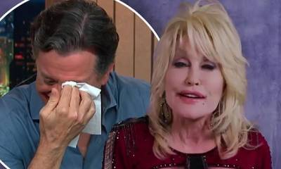 Dolly Parton, 74, reduces Stephen Colbert to tears by singing ballad Bury Me Beneath The Willow
