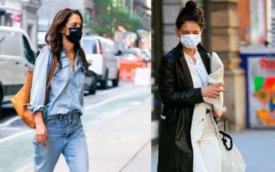 Katie Holmes is trying to bring back double denim - here's how she's making it look good