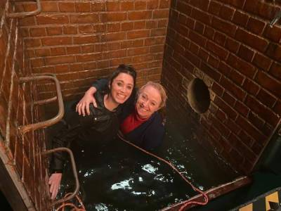 Coronation Street's Julia Goulding and Sally Ann Matthews share behind the scenes footage of shock drowning episode
