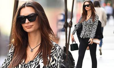 Emily Ratajkowski seen heading to SNL...after going into detail about Blurred Lines essay