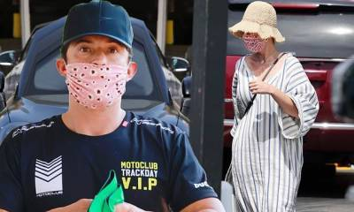 Orlando Bloom and fiancee Katy Perry spotted out on errand run in Montecito
